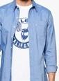 Levi's® Slim Fit Uzun Kollu Gömlek Mavi